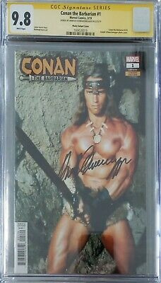 Conan the Barbarian #1 photo cover CGC SS signed by Arnold Schwarzenegger