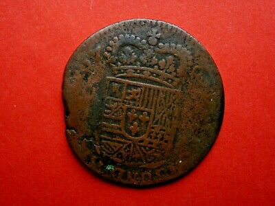Philip Of Spain Coin 1707