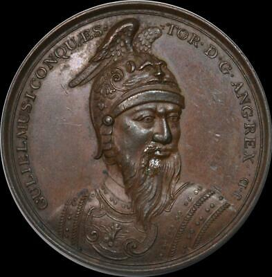 Norman England - William the Conqueror Bronze portrait medal Ca. 1731 by Dassier