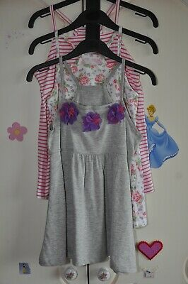 Girls 3 pk Summer Vest Top Set, Age 9, Dunnes Stores, New