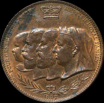 Queen Victoria - 1897 'Royal Family' medallion red UNC