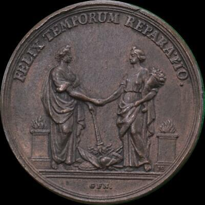 William III - 1697 Peace of Ryswick AE medal by Brunner
