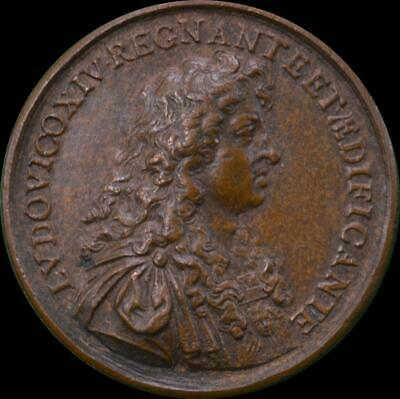 France, Louis XIV - 1667 Sun King AE medallion
