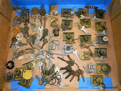 REDUCED PRICE Vintage Keys and Cabinet Locks Lot