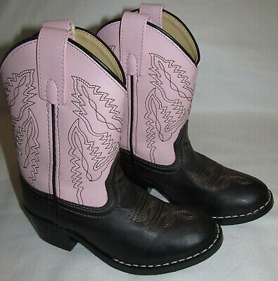 5e1c40b4e27 SMOKY MOUNTAIN PINK Brown Leather Cowboy Western Boots Youth Girls Size 11