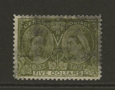 1897 Canada SG140 Five Dollar $5 Olive QV Jubilee Good Used Cat £700