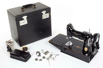 """Vintage ~ """"Singer Featherweight"""" ~ 221K Sewing Machine with Case ~ Working"""