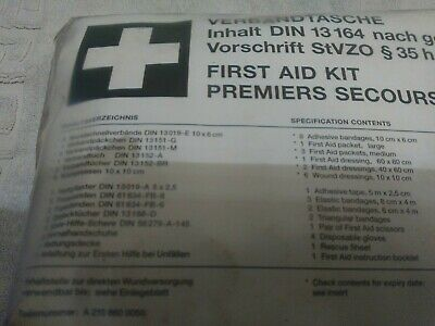 Genuine Mercedes-Benz E CLK CLASS W210 W208 FIRST AID Medical Emergency Kit +
