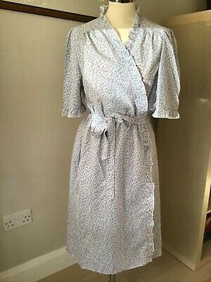 Vintage St Michael, Cotton, Frilled, Ditsy Pattern, Dressing Gown 12-14 Bnwot