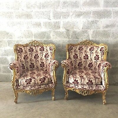 Antique Pair Of Two Baroque Chairs