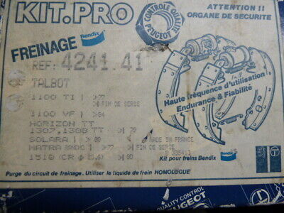 Matra Rancho, Simca 1100 + TI, 1307, 1308  etc. Kit de frein arriere Bendix, NOS