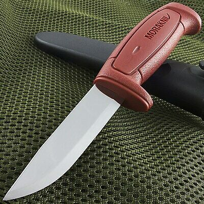 "8.1"" MORA MORAKNIV BASIC 511 CARBON STEEL KNIFE RED Survival Sweden 12147"