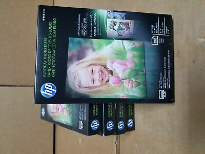 HP Photo Paper 4x6 Gloss 100 Sheets  per pack 500 seets CR759A Brand New 5 packs