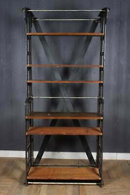19th Century Antique Industrial Style Cast Iron Library Bookcase Book Shelves