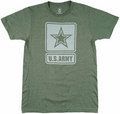 United States Army T-Shirt Military Green Short Sleeve USA America Air Force Top