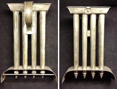 Antique 8 Taper Candle Mold - Tin Soldered Folk Art -Early 19th Century