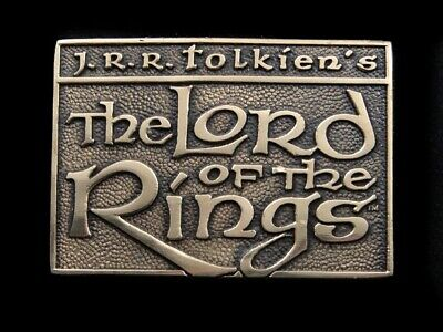 Sb13161 *Nos* Vintage 1979 **The Lord Of The Rings** Solid Brass Bts Belt Buckle