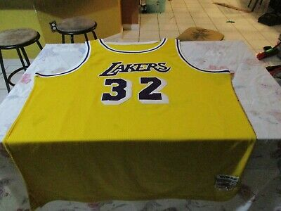 3ec462de1ab Magic Johnson #32 Los Angeles Lakers 1979 1980 Mitchell and Ness Jersey Size  60