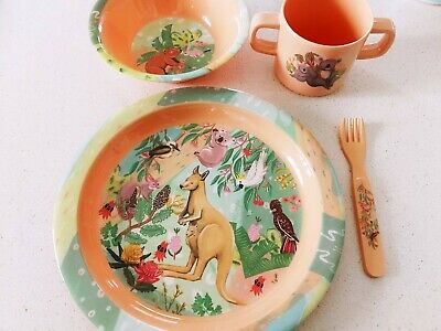 Children's Dinner Set, Kids Meal Set, Baby Bowls & Plates, Kids Melamine Set NEW