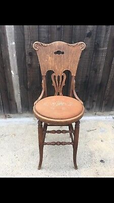 Vintage Antique Knitting Chair Sturdy