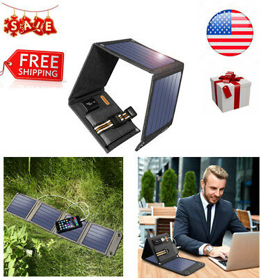 Suaoki 14W 5V/2A USB Port Solar Charger with Foldable Solar Panels for Cellphone