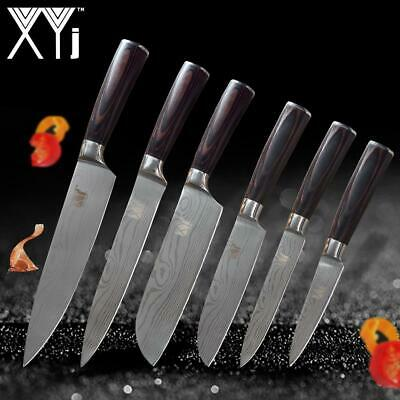 New Arrival High Carbon Stainless Steel Knives Set Wood Handle