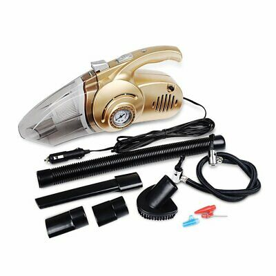 Portable 4 in 1 Car Vacuum Cleaner Handheld Car Inflatable Pump Air Compressor