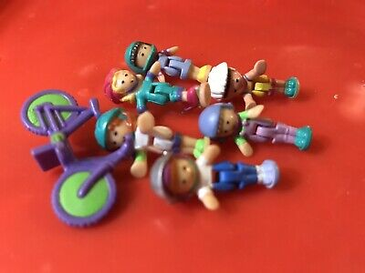 vintage bluebird polly pocket Figures 2 Bicycles And 12 Sporty Dolls Lot