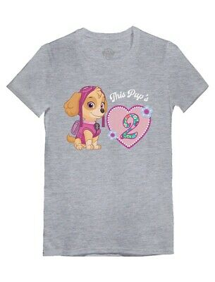 Official Paw Patrol Skye 2nd Birthday Toddler/Kids Girls' Fitted T-Shirt