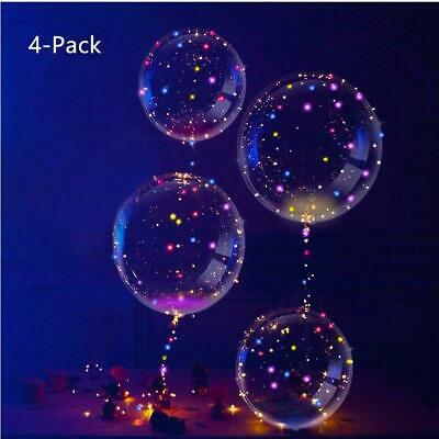 IvyLife Ballons LED Transparent Lumineuse Bobo en Latex Lampe Multicolore...