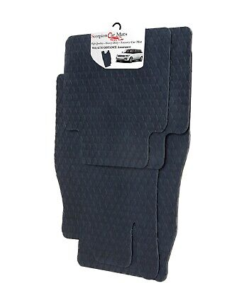 Mazda MX5 (4 Clips) Tailored Quality Black Rubber Car Mats 2006 - 2014