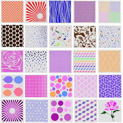 Kids Painting Template Hollow Layering Stencil Wall Decor Multi Choice DIY Craft