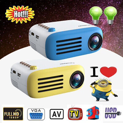 Upgraded YG200 Portable Mini 1080P HD Projector Home Cinema Theater USB VGA HDMI