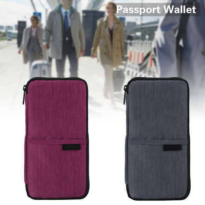 Family Travel Wallet Passport Holder  Blocking Document Organizer Bag Case
