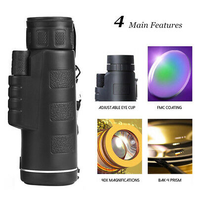 HD 40X60 Optical Zoom Clip Camera Lens Telescope For Mobile Cell Phone US ES