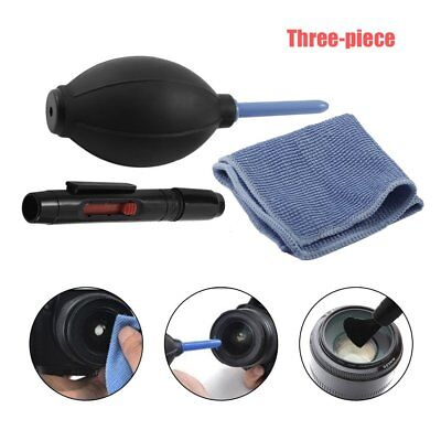 Cleaning Cloth Brush and Air Blower In 1 Set Digital Camera kit Dust Cleaner He