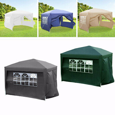 Heavy Duty Garden Waterproof Gazebo Tent 2m/2.5m/3m Patio Marquee Wedding Canopy