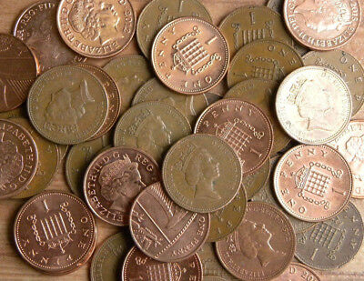 1p One Pence Coins Circulated