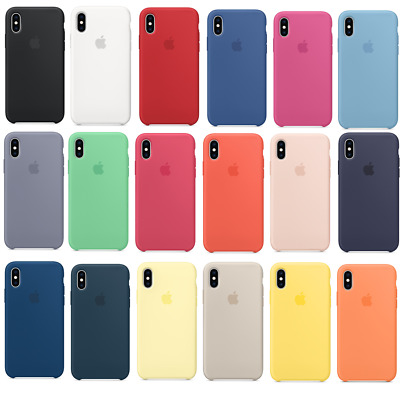 For Apple iPhone XS Max XR 6 7 8 Plus Soft Silicone OEM Original Case Cover Back