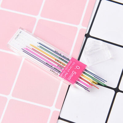 1box 0.5mm Colored Mechanical Pencil Refill Lead Erasable Student Stationary FEH