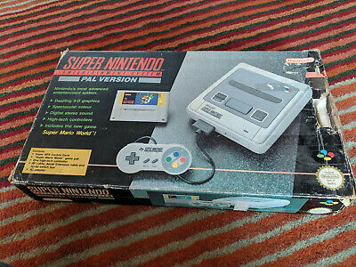 Super Nintendo Entertainment SNES System Console - Boxed and working