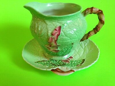Carlton Ware Australian Design  Foxglove Cream Jug and Scone Plate