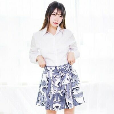 Women Mini Skirt Short Pleated Flared Club Casual Party Japanese Cute Lolita