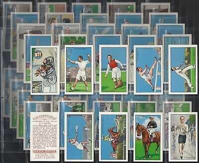 Gallaher-Full Set- Champions (1St Series With Captions 48 Cards) Dixie Dean Exc