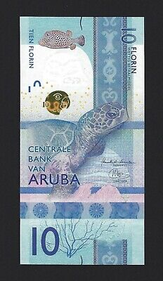 ARUBA 10 Florin 2019, Brand New Banknote, Completely New Design, Pack Fresh UNC