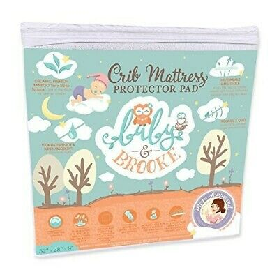 Organic Crib Mattress Cover Pad – Waterproof and Breathable Bamboo Baby Mattress