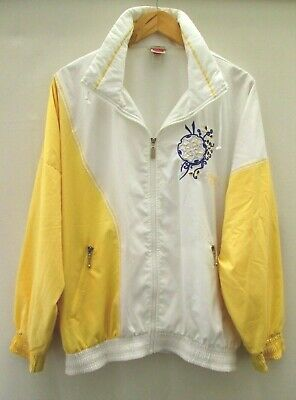4d9e4c10050 Vintage Shell Suit Jacket Festival Windbreaker Tracksuit Top Size Approx L  - Xl