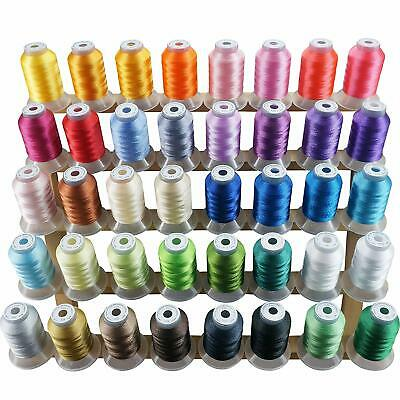 New Brothread 40 Brother Colors Polyester Embroidery Machine Thread Kit 500M (55