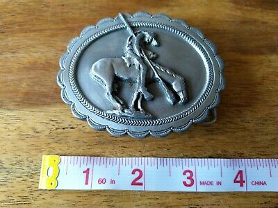 Red Indian Western Belt Buckle