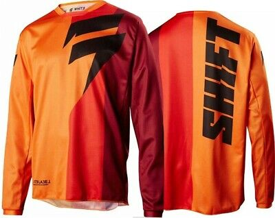 Shift WHIT3 Label Tarmac Motocross MX Race Jersey ORANGE Adults